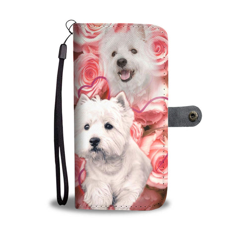 Cute Westie Print Wallet Case- Free Shipping