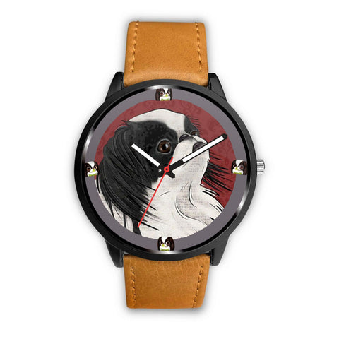 Japanese Chin Dog Art Print Wrist watch - Free Shipping