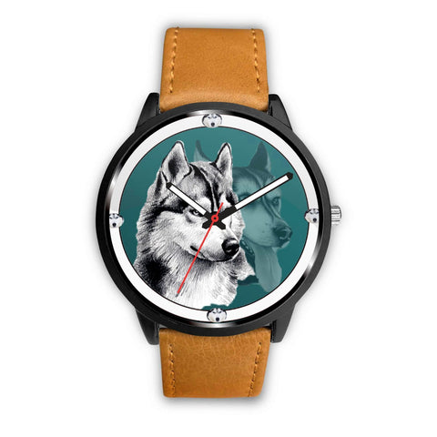 Siberian Husky Dog Art Print Wrist watch-Free Shipping
