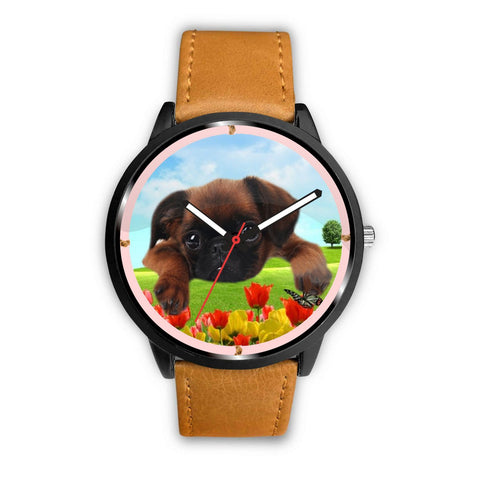 Brussels Griffon Puppy Print Wrist watch - Free Shipping