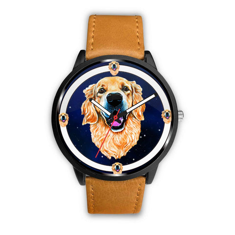 Golden Retriever Dog Art Print Wrist watch - Free Shipping