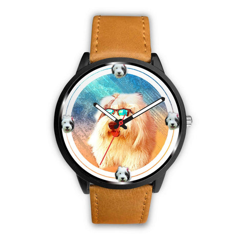 Old English Sheepdog Art Print Wrist watch - Free Shipping