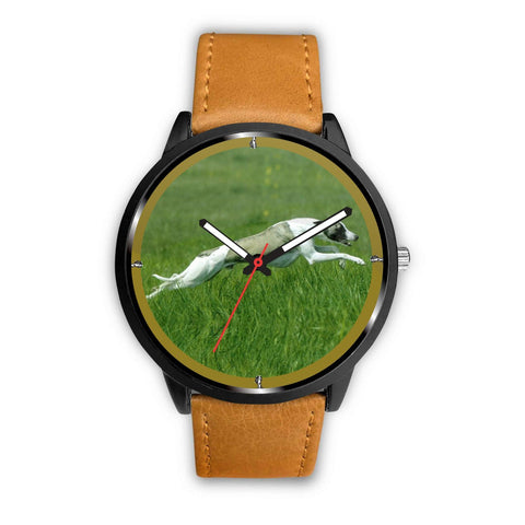 Whippet Dog Running Print Wrist Watch-Free Shipping