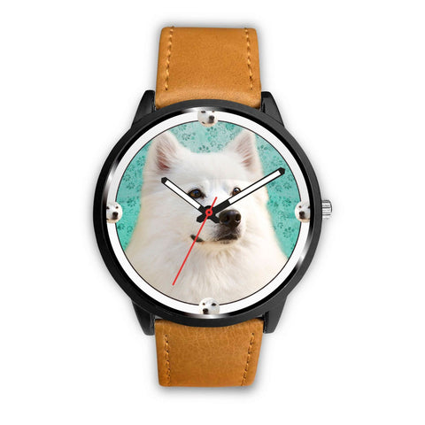 Cute American Eskimo Dog Print Wrist Watch -Free Shipping