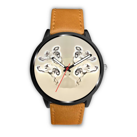 Whippet Dog Print Wrist Watch-Free Shipping