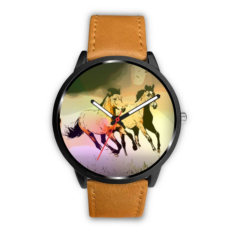 Mountain Pleasure Horse print Wrist Watch-Free Shipping
