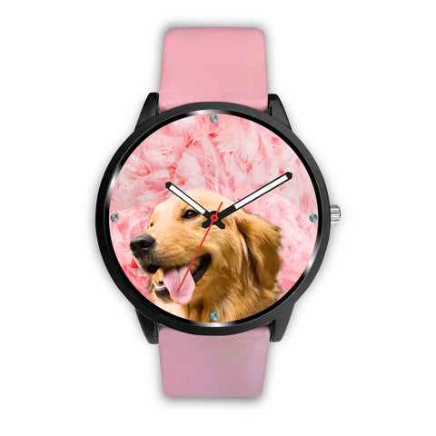 Golden Retriever Pink Print Wrist Watch- Free Shipping