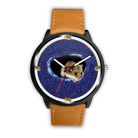 Chinese Hamster On Denim Print Wrist watch - Free Shipping