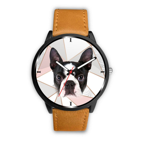 Lovely Boston Terrier Dog Print Wrist Watch- Free Shipping
