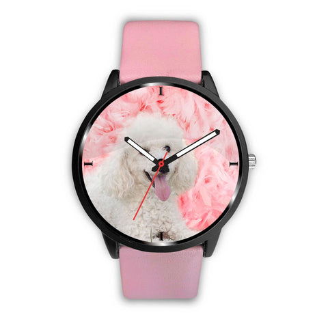 Poodle On Pink Print Wrist Watch- Free Shipping