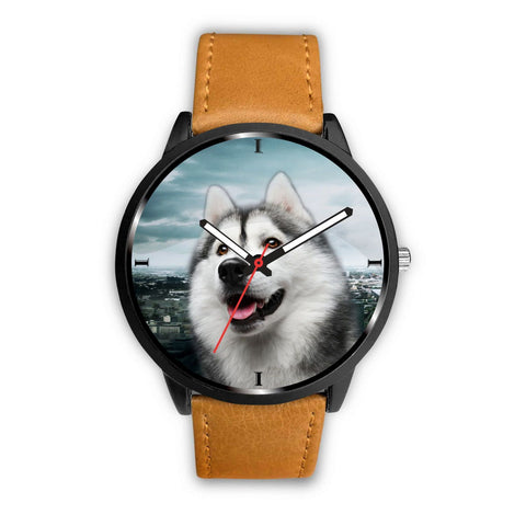Cute Siberian Husky Print Wrist Watch- Free Shipping