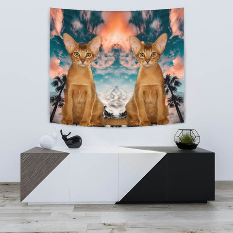 Cute Abyssinian Cat Print Tapestry-Free Shipping