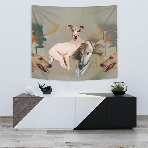 Italian Greyhound Print Tapestry-Free Shipping