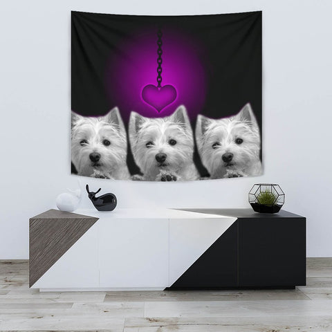 West Highland White Terrier (Westie) Print Tapestry-Free Shipping