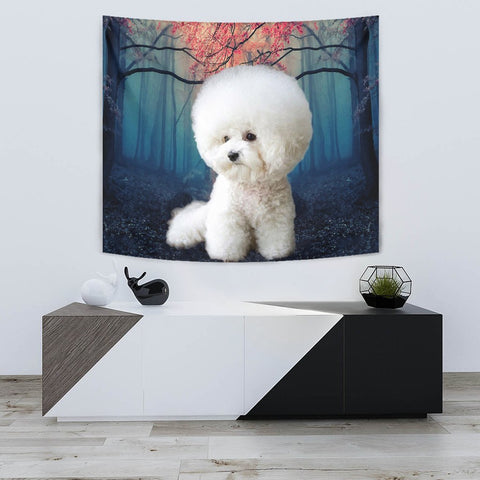 Cute Bichon Frise Print Tapestry-Free Shipping