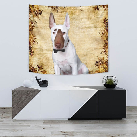 Bull Terrier Dog Print Tapestry-Free Shippping