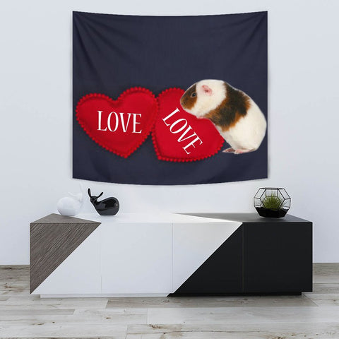 Teddy guinea pig Print Tapestry-Free Shipping