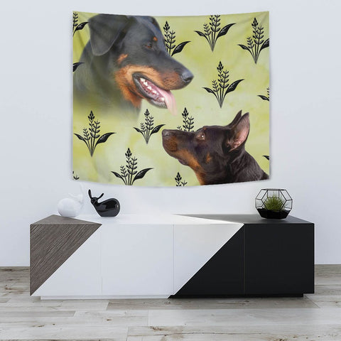 Beauceron Dog Print Tapestry-Free Shipping
