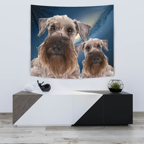 Cesky Terrier Dog Print Tapestry-Free Shipping