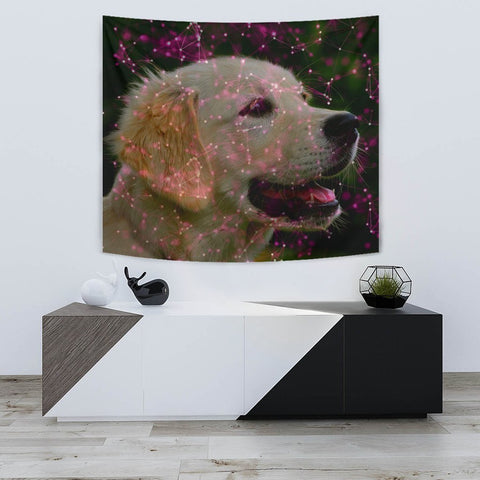 Lovely Golden Retriever Dog Print Tapestry-Free Shipping