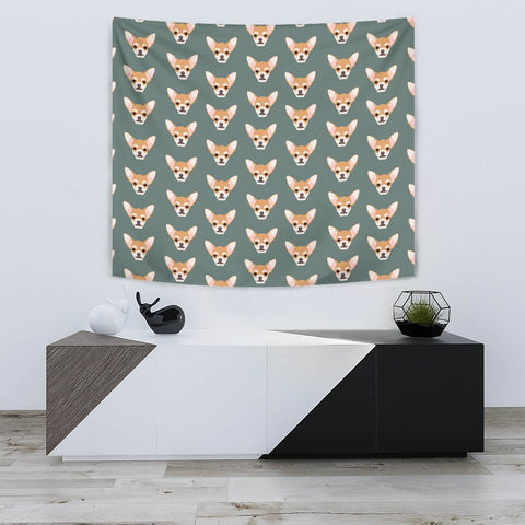 Lovely Chihuahua Dog Pattern Print Tapestry-Free Shipping