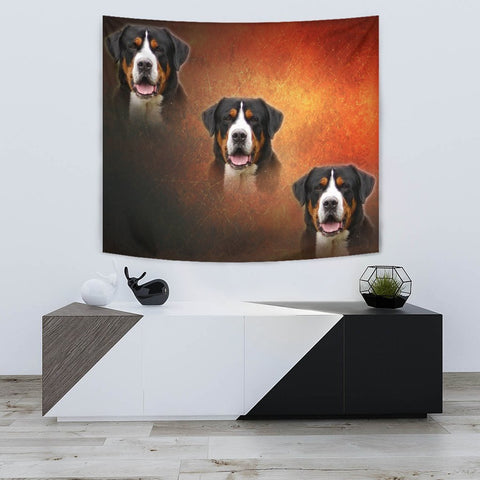 Entlebucher Mountain Dog Print Tapestry-Free Shipping