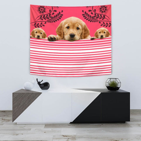 Golden Retriever Print Tapestry-Free Shipping