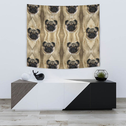 Amazing Pug Dogs Print Tapestry-Free Shipping