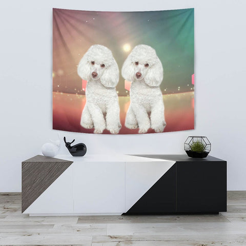 Cute Poodle Dog Print Tapestry-Free Shipping