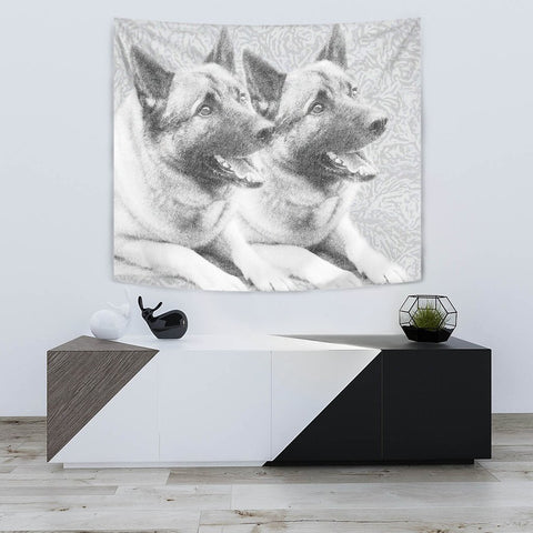 Amazing Norwegian Elkhound Print Tapestry-Free Shipping