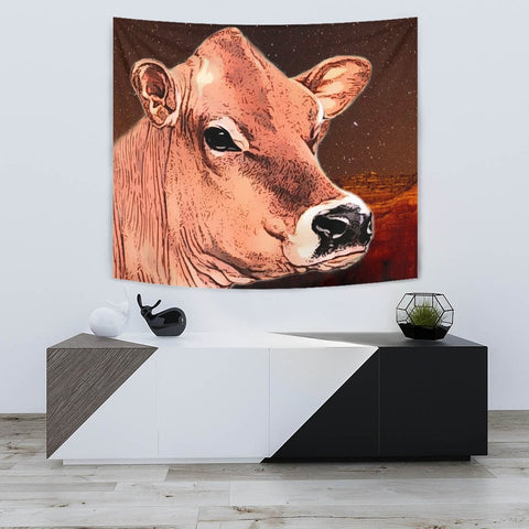 Cute Jersey Cattle (Cow) Print Tapestry-Free Shipping