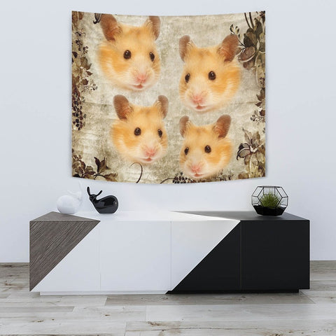 Amazing Golden Hamster Print Tapestry-Free Shipping
