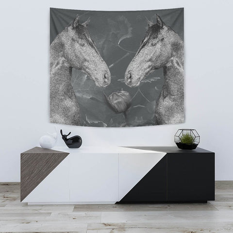 Thoroughbred Horse Print Tapestry-Free Shipping