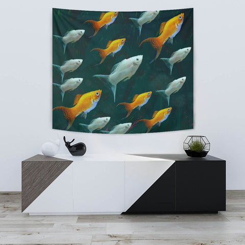 Amazing Mollie Fish Print Tapestry-Free Shipping