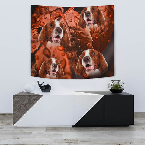Cute Irish Red and White Setter Print Tapestry-Free Shipping