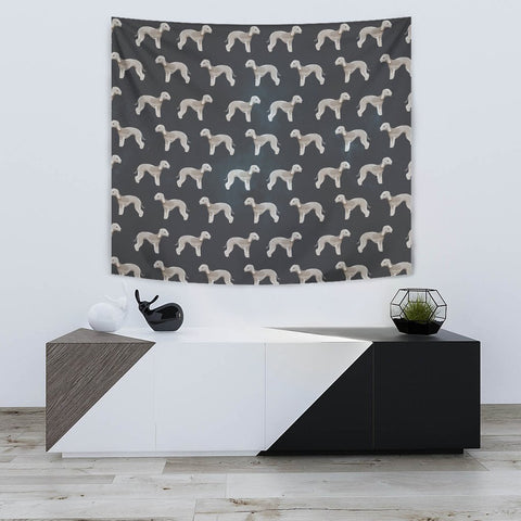 Bedlington Terrier Dog Pattern Print Tapestry-Free Shipping