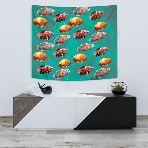 Lovely Oscar Fish Print Tapestry-Free Shipping