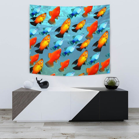 Lovely Platy Fish Print Tapestry-Free Shipping