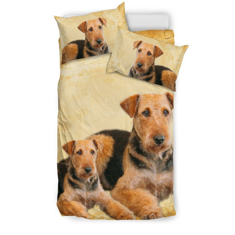 Airedale Terrier Print Bedding Set- Free Shipping
