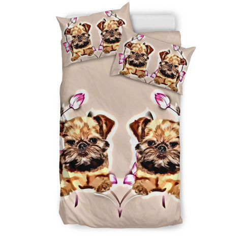 Cute Brussels Griffon Print Bedding Set-Free Shipping
