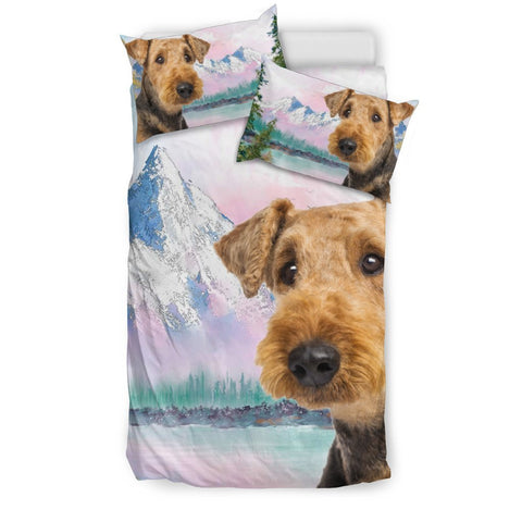 Cute Airedale Terrier Print Bedding Set- Free Shipping
