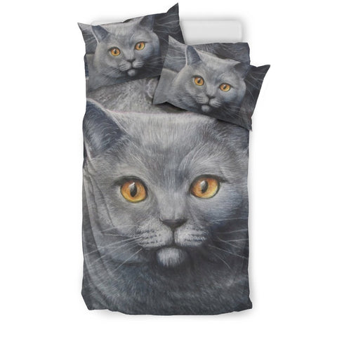 Russian Blue Cat Print Bedding Set-Free Shipping