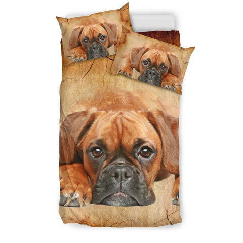 Boxer Dog Print Bedding Set- Free Shipping