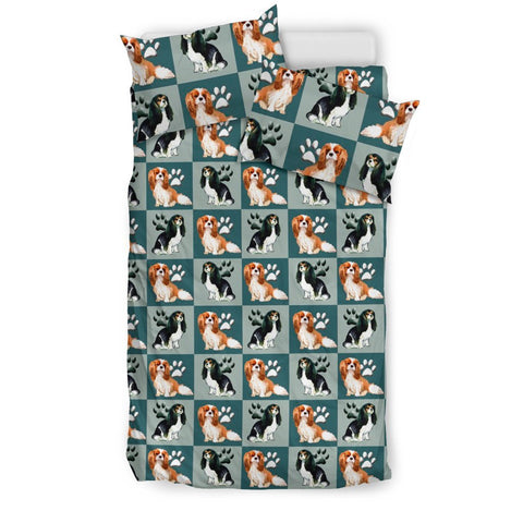 Cavalier King Charles Spaniel Pattern Print Bedding Set-Free Shipping