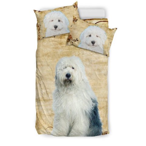 Cute Old English Sheepdog Print Bedding Set- Free Shipping