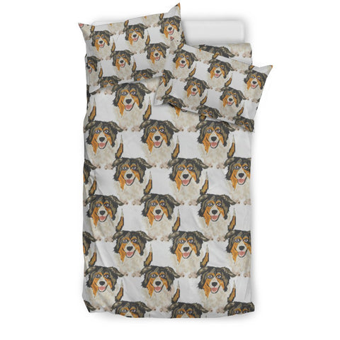 Australian Shepherd Dog Pattern Print Bedding Set- Free Shipping