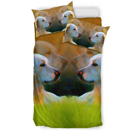 Lovely Golden Retriever Dog Art Print Bedding Set-Free Shipping