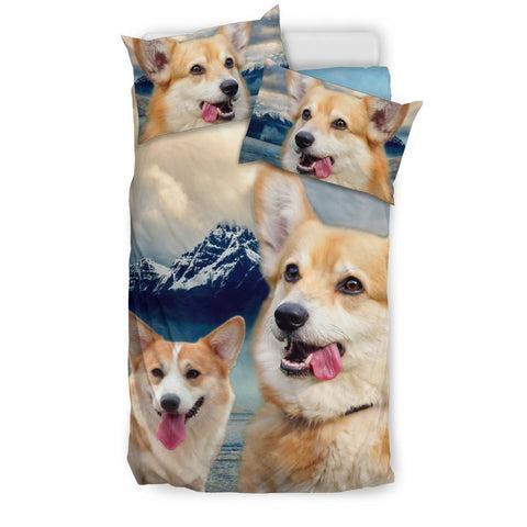 Lovely Pembroke Welsh Corgi Print Bedding Set- Free Shipping