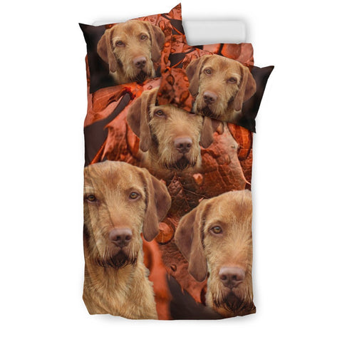 Wirehaired Vizsla Dog Print Bedding Set- Free Shipping