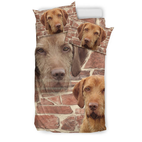 Cute Wirehaired Vizsla Dog Print Bedding Set- Free Shipping